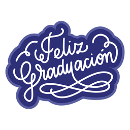 Autocolante de graduacion de Feliz