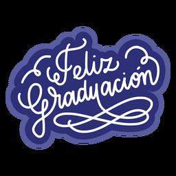 Feliz graduacion curl sticker