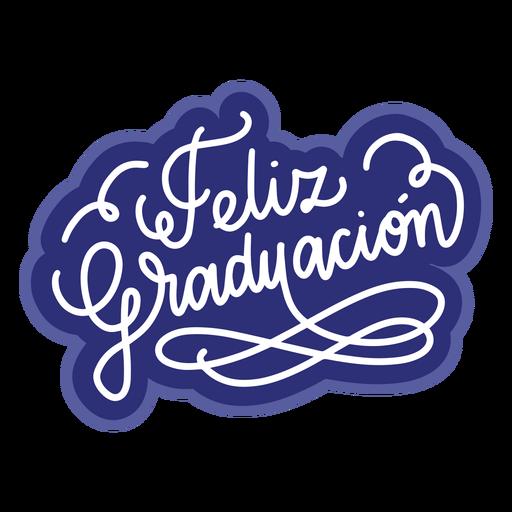 Feliz graduacion curl sticker Transparent PNG