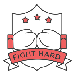 Fight hard glove boxing glove star colored badge sticker