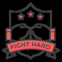 Lucha contra el guante duro boxeo guante estrella etiqueta coloreada pegatina