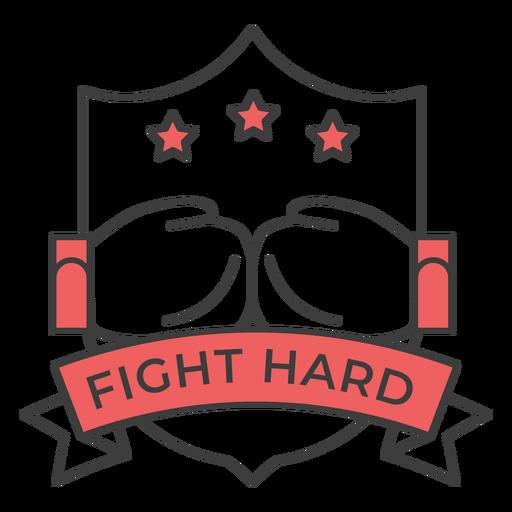 Luta duro luva de boxe estrela estrela colorido adesivo emblema Transparent PNG
