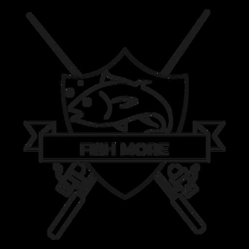 Pez más pescado varilla spinning insignia de trazo Transparent PNG