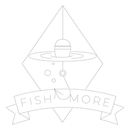 Fish more hook rhomb sea line float badge line