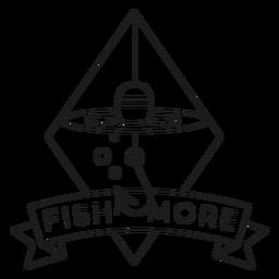 Peixe mais gancho rhomb mar linha float crachá linha