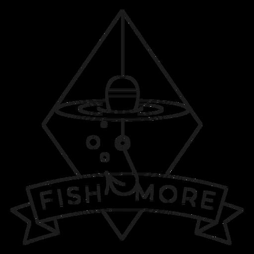 Fish more hook rhomb sea line float badge line Transparent PNG