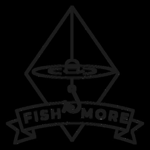 Fish more hook rhomb sea line float badge stroke Transparent PNG