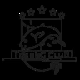 Linha de crachá de estrela de fiação de vara de peixe clube de pesca