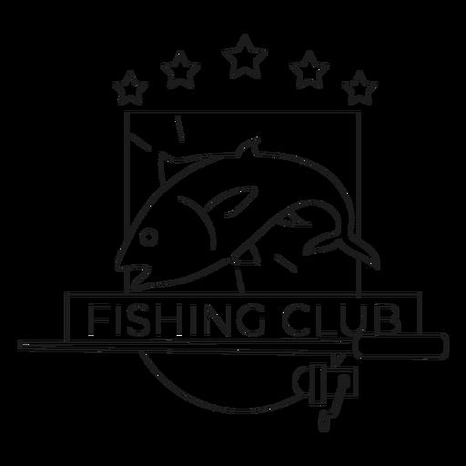 Linha de crachá de estrela de fiação de vara de peixe clube de pesca Transparent PNG