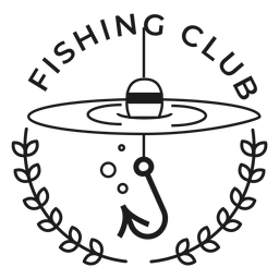 Club de pesca caña de pescar spinning estrella insignia trazo