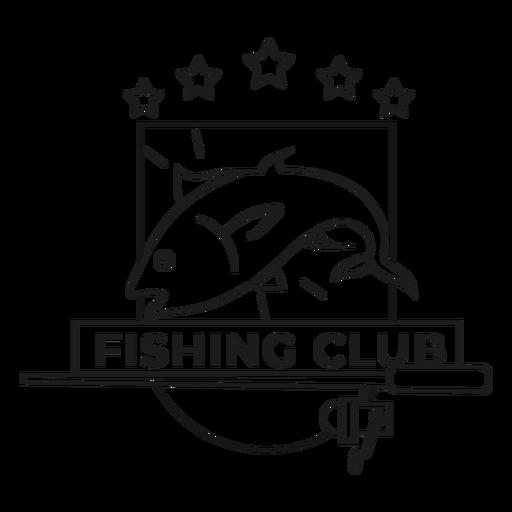 Fishing club fish rod star spinning badge stroke Transparent PNG