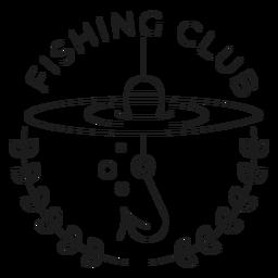 Club de pesca anzuelo rama línea de mar flotador insignia línea