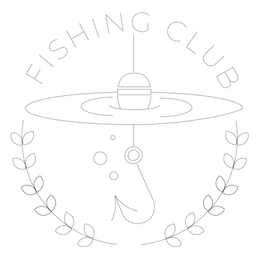 Fishing club hook branch sea line float badge line Transparent PNG