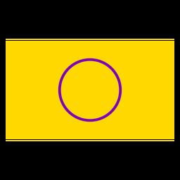Círculo de bandeira intersex plana