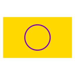 Flag circle intersex flat