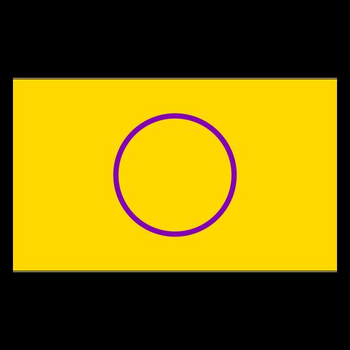 Círculo de bandeira intersex plana Transparent PNG