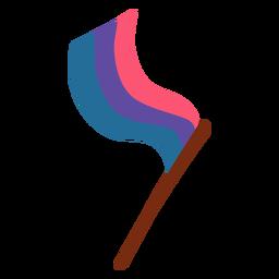 Polo de bandeira gay plana