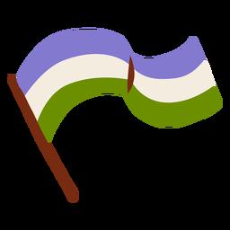 Asta de bandera pansexual plana