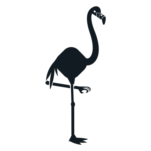 Flamingo beak leg tail detailed silhouette Transparent PNG