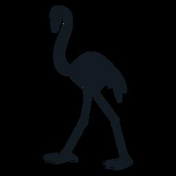 Silhueta detalhada da cauda do bico do flamingo