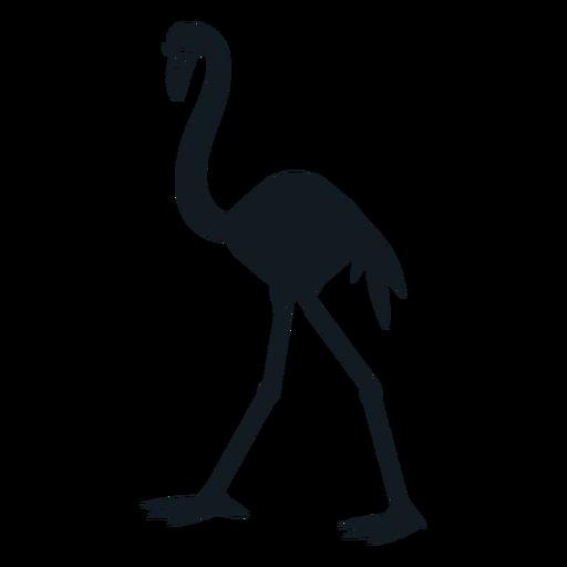 Flamingo beak tail leg detailed silhouette Transparent PNG