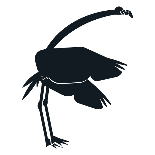 Flamingo beak tail wing leg detailed silhouette Transparent PNG