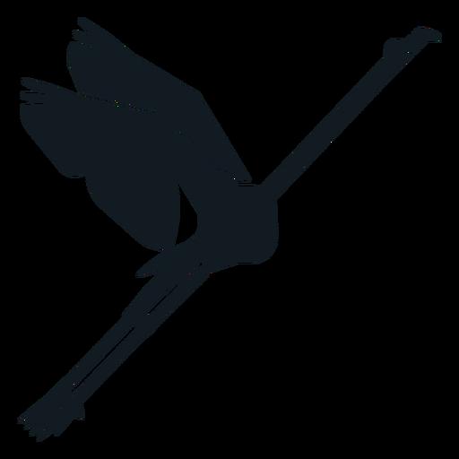 Flamingo beak wing tail leg detailed silhouette Transparent PNG