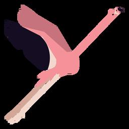 Flamingo Bein Schnabel rosa Fliege flach gerundet