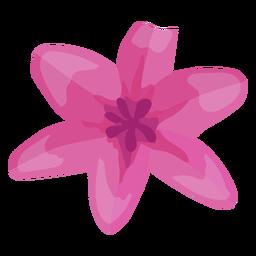 Flower bud petal flat