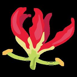 Brote de flores pétalo pistilo plano