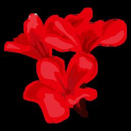 Flower stem bud petal flat
