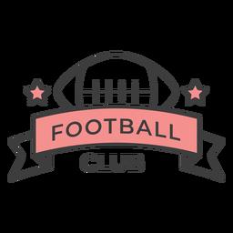 Adesivo de crachá colorido de estrela de bola de clube de futebol