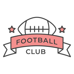 Football club ball star colored badge sticker