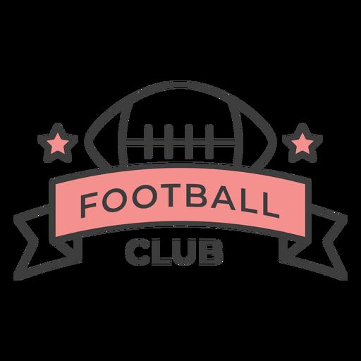 Adesivo de crachá colorido de estrela de bola de clube de futebol Transparent PNG