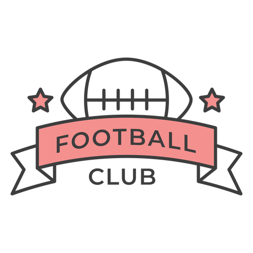 Football club ball star colored badge sticker Transparent PNG