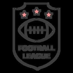 Estrela de bola de futebol ligue a etiqueta do crachá