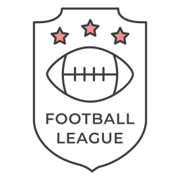 Football ligue ball star colored badge sticker