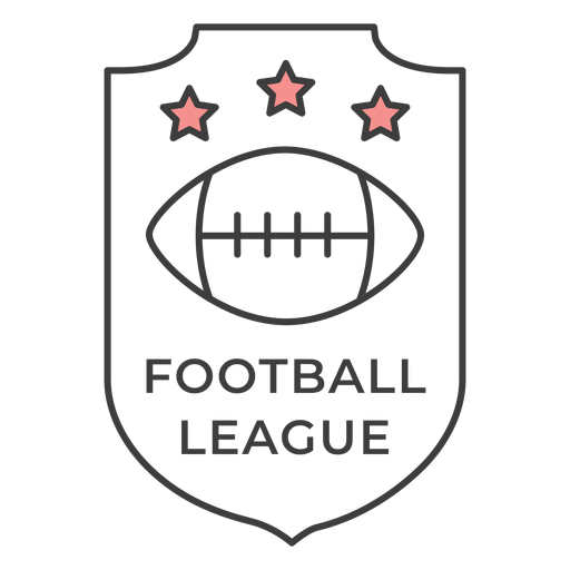 Football ligue ball star colored badge sticker Transparent PNG