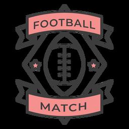 Etiqueta engomada coloreada estrella de la bola del partido de fútbol