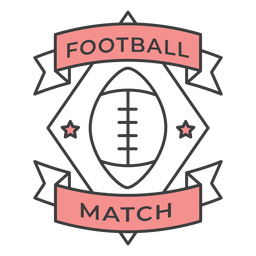 Football match ball star colored badge sticker