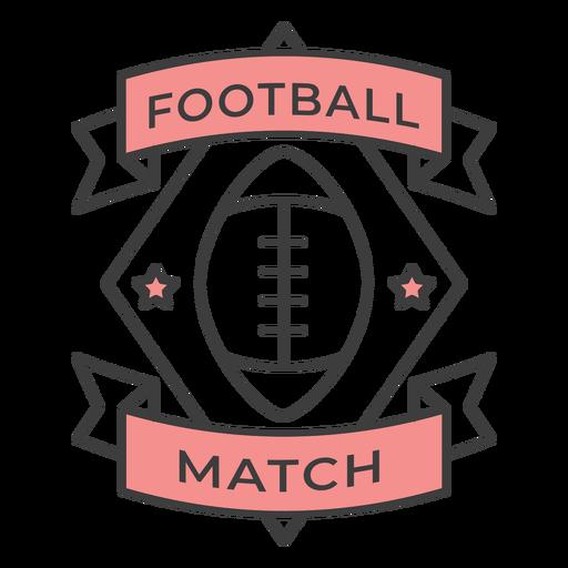 Etiqueta engomada coloreada de la insignia de la estrella de la bola del partido de fútbol