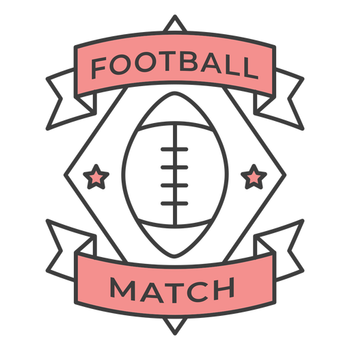 Football match ball star colored badge sticker ...
