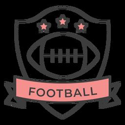 Estrela de bola de futebol colorido adesivo de crachá