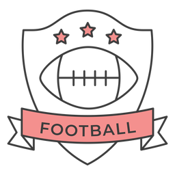 Football ball star colored badge sticker