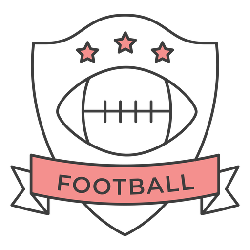 Football ball star colored badge sticker Transparent PNG