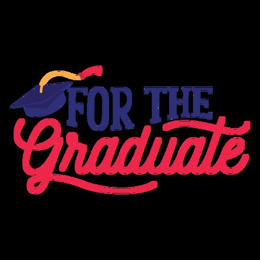 For the graduate academic cap sticker Transparent PNG