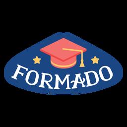 Pegatina de gorra académico estrella de Formado