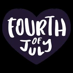 Viertel des Juli-Herzaufklebers