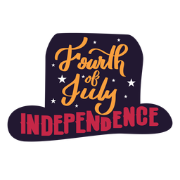 Fourth of july independence star hat sticker