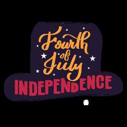 Quarto de etiqueta do chapéu da estrela da independência de julho